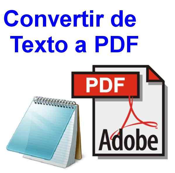 texto a pdf