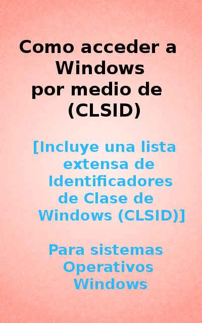 lista de clsid windows