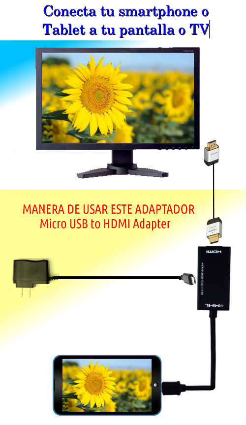 conectar cable mhl